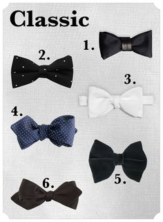 Wedding Bow Ties: classic-bow-ties via A Practical Wedding Bow Tie Wedding, Wedding Groom, Wedding Men, Wedding Suits, Wedding Styles, Budget Wedding, Wedding Planning, Traje A Rigor, Types Of Bows