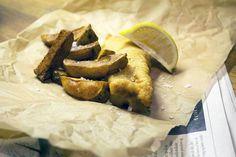 """Fish and chips"" – Fisk og fritter"