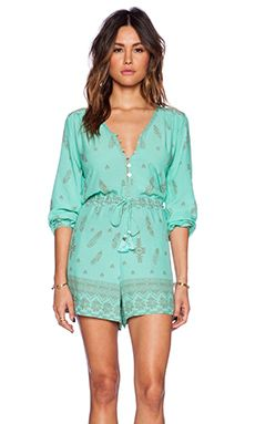 Spell & The Gypsy Collective Skull Tribe Jumpsuit in Turquoise