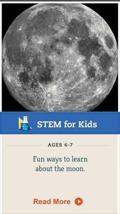 Print this moon-phase mini-book for your child to complete. Click for details.  #STEM