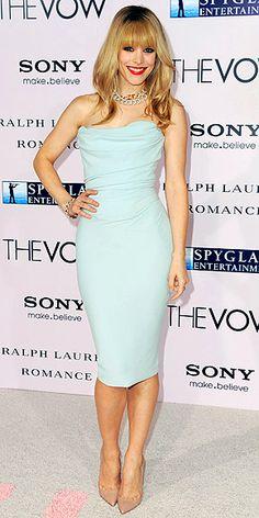 Love Rachel McAdams Mint Green Dress!
