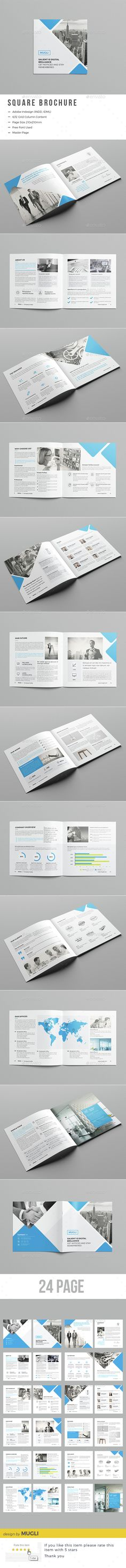 24 Pages Corporate Square Brochure Template InDesign INDD. Download here: http://graphicriver.net/item/corporate-square-brochure/15342062?ref=ksioks
