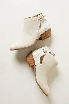 Not sure if this is neat or just trying too hard. Also I love white booties but am positive I would ruin them very quickly. Wonder Ankle Boots  #anthropologie