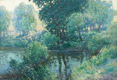 RadimskýVáclav (1867–1946) | Rameno řeky, 1915-1918 | olej, karton, rám, 71 x 101 cm