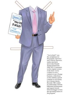 DONALD TRUMP Paper Doll Collectible Campaign Edition By: Tim Foley Welcome to Dover Publications —— Costume 2