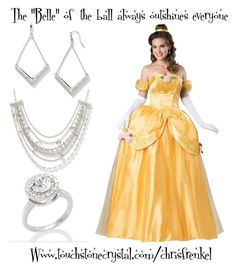 """Belle of the ball"" by christen-olnhausen-frenkel on Polyvore featuring Touchstone Crystal and Silver Lining"