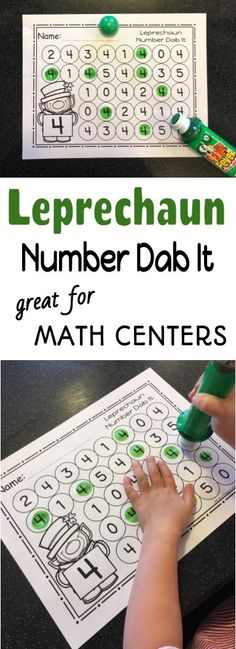 Work on number recognition with these festive leprechaun numbers 0-25 dab it worksheets during your St. Patrick's day unit.
