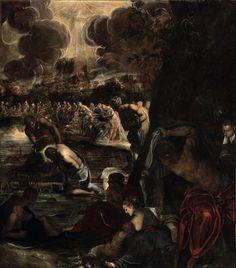 The Baptism of Christ / El Bautismo de Cristo / Il Battesimo di Cristo // 1578-1581 // Tintoretto // Sala Capitolare / Scuola Grande di San Rocco, Venice // #Jesus #JohnTheBaptist