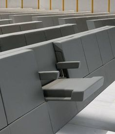 and created specifically for the Aula Magna at the new Bocconi University campus in Milan, the Genya armchair uses the stylistic features, minimalist spirit and austere appearance of the building designed by Grafton Architects, All Modern Furniture, Smart Furniture, Space Saving Furniture, Cheap Furniture, Modern Chairs, Furniture Makeover, Industrial Furniture, Furniture Outlet, Furniture Stores