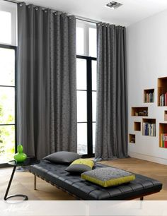 Alendel Fabrics de Novo Collection   Patterns Baxter, Emily & Walton in colours Charcoal and Moss Leaf Curtains, Curtains With Blinds, Sheer Curtains, Drapery Fabric, Steam Cleaning Services, Motorized Blinds, Fabric Suppliers, Charcoal Color, Room Interior