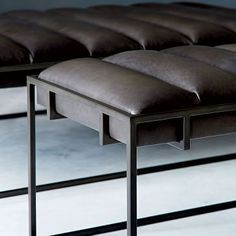 Fontanne Leather Ottoman - Rectangle #westelm