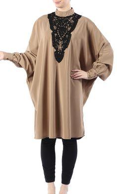 #Kilam - #EastEssence Layana laced kashibo tunic - AdoreWe.com