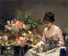 The Flower Seller ~ Victor Gabriel Gilbert ~ (French 1847-1933)