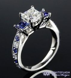 Selected Material 4.5 G Obliging 925 Sterling Silver 2ct Deep Blue Sapphire & Topaz Ring Size M