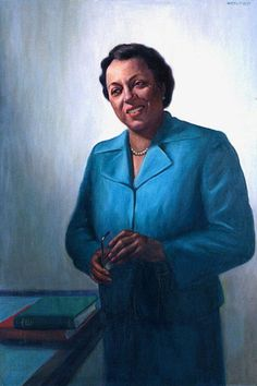 Edith Spurlock Sampson (October 13, 1898 – October 8, 1979) American lawyer and judge, and the first Black U.S. delegate appointed to the United Nations. Painting by Betsy Graves Reyneau