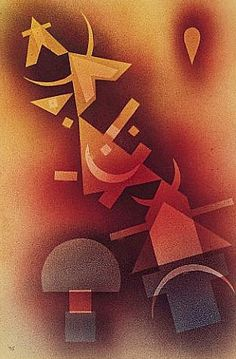 Wassily, Vassily Kandinsky - Abstract Art - Bauhaus - From Cool Depths, 1928 Art Kandinsky, Wassily Kandinsky Paintings, Abstract Words, Abstract Art, Klimt, Paul Klee, Art Moderne, Modern Artists, Art Graphique