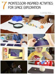 7 Montessori-Inspired Astronomy Activities using Montessori By Mom Space Explorer Toolbox.