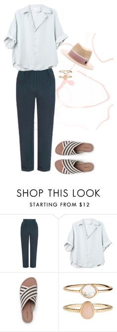 """relax"" by f-ciarda on Polyvore featuring Topshop, Lands' End, Accessorize, Maison Michel and Summer"