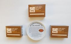3 - Pack Nubian Heritage Raw Shea Butter Soap 5oz + Bonus :Shea Butter 8oz Tub #NubianHeritage