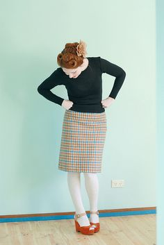 vintage dogstooth and elbow patches c by night.owl, via Flickr -Esme and the Laneway