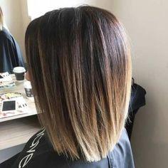 Sombre Blunt Shoulder Length Bob Haircut