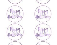 Print at home Halloween gift tags, candy tag, halloween decor, favour tags. Available in black, orange and purple.