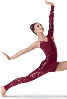 Weissman™ | Asymmetrical Sequin Lace Unitard