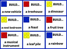 9 printable LEGO building challenges