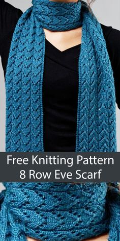 Free Knitting Pattern for 8 Row Repeat Eve Scarf - Elegant scarf knit with an 8 row repeat fishtail lace stitch that looks beautiful on either side. Size Size: (width) x (length), Uses just Easy Knitting, Loom Knitting, Knitting Stitches, Knitting Patterns Free, Free Scarf Knitting Patterns, Knitting Scarves, Finger Knitting, Knitting Machine, Free Pattern