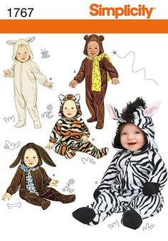 lambie costume---zebra costume in white with pink mittens and feet; pink ricrac around mittens and feet; lower ears to the sides of the hood