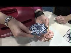 CHA 2012 - Spellbinders Demo's Cut Fold and Tuck Die Cuts for Intricate Shapes