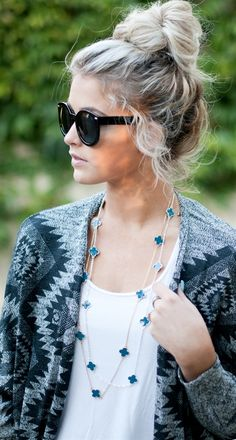 Clover Necklace. Great look...especially if you have two or more and the price is unbelievable:)