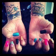 pretty female tattoo for wrist