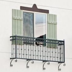 Wrought iron juliet balcony