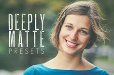 Deeply Matte  30 Lightroom Presets by PresetsGalore on Etsy, $8.00