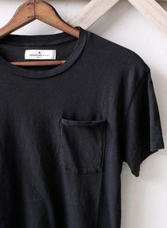 Lots of plain black pocket tees or with no pockets