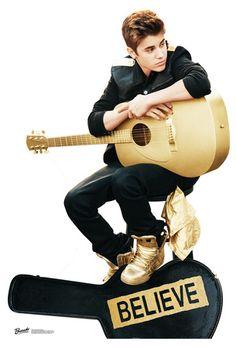 Justin Bieber Believe con Guitar Lifesize Standup Poster Imagen a tamaño natural en AllPosters.com.mx. Consigue aquí los mejores cupones de descuento.