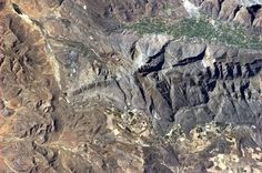 The Earth's fault lines are especially visible from orbit, like this one in South Africa.
