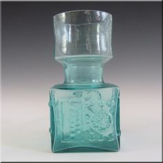 Dartington Crystal Kindred Vase Dartington Lime Ribbed Green Retro Discounts Sale Glass