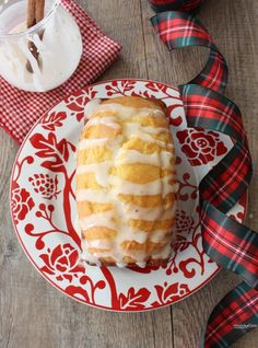 Eggnog Bread with Rum Glaze.   Knead to Cook Magic Lis, my hairdresser made this and she said it is wonderful! Can't wait to try it...
