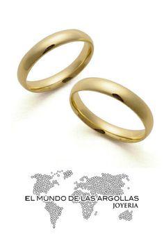Modelo: A-A90494M Argolla oro amarillo 14K confort lisa 4mm #ArgollasDeMatrimonio
