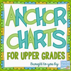 A collection of anchor charts from Teaching With a Mountain View for Grades 3 and up! Dozens of literacy and math anchor charts featured. 6th Grade Ela, 5th Grade Classroom, 5th Grade Reading, School Classroom, Classroom Ideas, Fourth Grade, Third Grade, Sixth Grade, Future Classroom