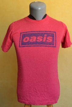 VTG-Oasis-Band-T-Shirt-1995-Concert-Tour-2-Rock-Small