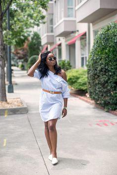 Side Collar Shirtdress| MILLENNIELLE