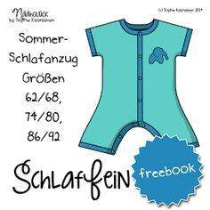 Sommer Schlafanzug, kurzer Schlafanzug 62-92 nähen