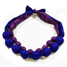 Silk Necklace Purple