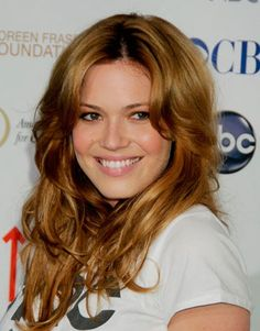 Mandy Moore...want my hair to be this color.