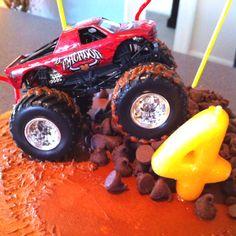 Jack's Monster Truck Birthday Cake!!!