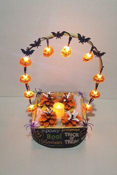 Halloween Pumpkin LED Lights Candy Corn by FURNANDSUECREATION