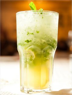 A refreshing, versatile cocktail that combines mint, fresh lemon, fresh lime with your choice of gin, vodka or rum and a splash of soda.